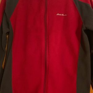 Eddie Bauer Fleece in Gray and Red 10-12 youth